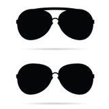 Μαύρο διάνυσμα γυαλιών ηλίου διανυσματική απεικόνιση