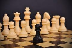 μαύρο διάνυσμα ενέχυρων απεικόνισης σκακιού Στοκ εικόνες με δικαίωμα ελεύθερης χρήσης