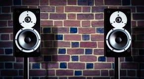 μαύρο διάνυσμα ομιλητών μουσικής απεικόνισης Στοκ Φωτογραφία