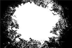 Μαύρο διάνυσμα πλαισίων grunge με το άσπρο διάστημα στο κέντρο για σας Στοκ φωτογραφία με δικαίωμα ελεύθερης χρήσης