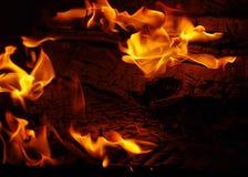 μαύρο διάνυσμα φλογών πυρ&kap Στοκ φωτογραφίες με δικαίωμα ελεύθερης χρήσης