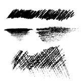 Μαύρο διάνυσμα ύφους σύστασης βουρτσών μολυβιών Στοκ Φωτογραφία