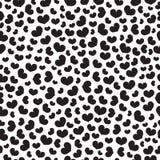 Μαύρο διανυσματικό άνευ ραφής σχέδιο καρδιών Στοκ εικόνα με δικαίωμα ελεύθερης χρήσης