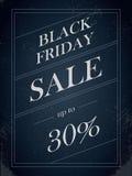 Μαύρο διανυσματικό έμβλημα πώλησης Παρασκευής με τη percentual προσφορά έκπτωσης στο εκλεκτής ποιότητας διακοσμητικό καλλιτεχνικό Στοκ φωτογραφία με δικαίωμα ελεύθερης χρήσης