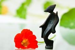 μαύρο ιαπωνικό nasturtium ειδωλίων Στοκ φωτογραφία με δικαίωμα ελεύθερης χρήσης