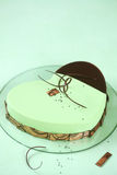 Μαύρο κέικ Matcha Entremet σουσαμιού Στοκ φωτογραφία με δικαίωμα ελεύθερης χρήσης