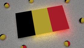 Μαύρο κίτρινο κόκκινο σημαιών του Βελγίου διανυσματική απεικόνιση