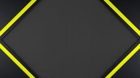 μαύρο και κίτρινο υπόβαθρο πλαισίων μετάλλων Στοκ φωτογραφίες με δικαίωμα ελεύθερης χρήσης