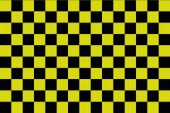 Μαύρο και κίτρινο checkerboard υπόβαθρο - διανυσματικό ilustration - EPS 10 απεικόνιση αποθεμάτων
