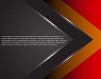 Μαύρο και κόκκινο εταιρικό ριγωτό γραφικό σχέδιο τεχνολογίας glowing lines Ζωηρόχρωμο θέμα Στοκ Εικόνα