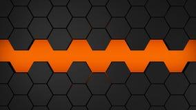 Μαύρο και κόκκινο hexagons σύγχρονο υπόβαθρο Στοκ εικόνα με δικαίωμα ελεύθερης χρήσης