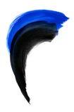 Μαύρο και μπλε κτύπημα βουρτσών χρωμάτων watercolor Στοκ φωτογραφίες με δικαίωμα ελεύθερης χρήσης