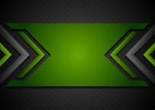Μαύρο και πράσινο αφηρημένο υπόβαθρο τεχνολογίας με τα στιλπνά βέλη απεικόνιση αποθεμάτων