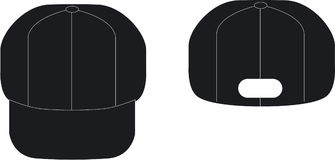 μαύρο καπέλο διανυσματική απεικόνιση