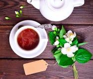 μαύρο καυτό τσάι Στοκ Φωτογραφία