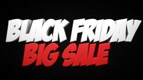 Μαύρο κείμενο πώλησης Παρασκευής μεγάλο Στοκ φωτογραφίες με δικαίωμα ελεύθερης χρήσης