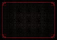 Μαύρο κινεζικό αφηρημένο υπόβαθρο σχεδίων κύκλων Στοκ Εικόνες