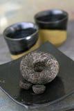 μαύρο κινεζικό τσάι στοκ εικόνες