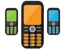 μαύρο κινητό τηλέφωνο Στοκ Εικόνα