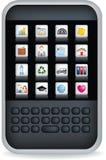 μαύρο κινητό τηλέφωνο pda Στοκ Εικόνες