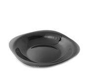 μαύρο κομψό κενό πιάτο γευ&mu Στοκ εικόνες με δικαίωμα ελεύθερης χρήσης
