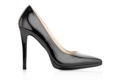Μαύρο κομψό παπούτσι για τη γυναίκα Στοκ εικόνες με δικαίωμα ελεύθερης χρήσης