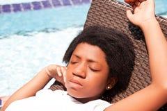 Μαύρο κορίτσι εφήβων στοκ εικόνες