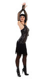 μαύρο κορίτσι φορεμάτων λί&g Στοκ Φωτογραφία