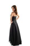 μαύρο κορίτσι φορεμάτων Στοκ εικόνα με δικαίωμα ελεύθερης χρήσης
