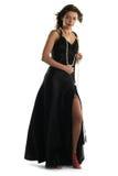 μαύρο κορίτσι φορεμάτων Στοκ φωτογραφίες με δικαίωμα ελεύθερης χρήσης