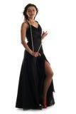 μαύρο κορίτσι φορεμάτων Στοκ εικόνες με δικαίωμα ελεύθερης χρήσης