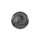Μαύρο κουμπί με τη διακόσμηση και τη σύσταση Στοκ φωτογραφίες με δικαίωμα ελεύθερης χρήσης