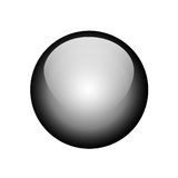μαύρο κουμπί Στοκ φωτογραφία με δικαίωμα ελεύθερης χρήσης