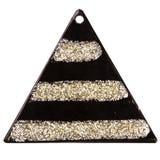 Μαύρο κρεμαστό κόσμημα τριγώνων Στοκ Εικόνες