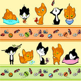 μαύρο κόκκινο γατακιών συ ελεύθερη απεικόνιση δικαιώματος