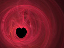 μαύρο κόκκινο γραμμών καρδ&i Στοκ Εικόνες