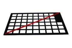 μαύρο κόκκινο διάτρητο γρ&alp στοκ εικόνες με δικαίωμα ελεύθερης χρήσης