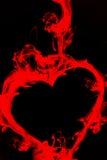 μαύρο κόκκινο καρδιών Στοκ Φωτογραφία