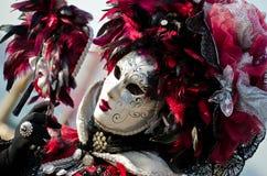 μαύρο κόκκινο μασκών Στοκ Εικόνες