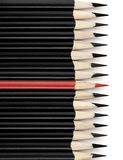 μαύρο κόκκινο μολυβιών Στοκ Φωτογραφία