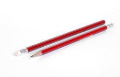 μαύρο κόκκινο μολυβιών Στοκ Εικόνα