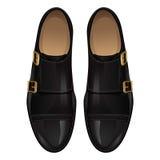 μαύρο κλασικό ψαλίδισμα απομονωμένο λευκό παπουτσιών μονοπατιών ανασκόπησης Στοκ Εικόνες