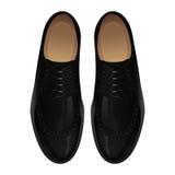 μαύρο κλασικό ψαλίδισμα απομονωμένο λευκό παπουτσιών μονοπατιών ανασκόπησης Στοκ εικόνα με δικαίωμα ελεύθερης χρήσης