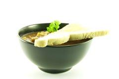 μαύρο λαχανικό σούπας κύπ&epsilon Στοκ Εικόνα