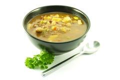 μαύρο λαχανικό σούπας κύπ&epsilon Στοκ Φωτογραφίες