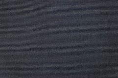 Μαύρο λεπτομερές κοτλέ υπόβαθρο σύστασης, μεγάλη λεπτομερής οριζόντια κατασκευασμένη Velveteen βαμβακιού μακρο κινηματογράφηση σε Στοκ φωτογραφία με δικαίωμα ελεύθερης χρήσης