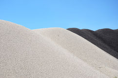 μαύρο λευκό αμμοχάλικου στοκ εικόνα