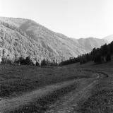 μαύρο λευκό βουνών Στοκ εικόνα με δικαίωμα ελεύθερης χρήσης