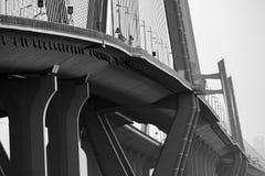 μαύρο λευκό γεφυρών Στοκ φωτογραφία με δικαίωμα ελεύθερης χρήσης