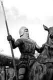 μαύρο λευκό ιπποτών Στοκ Εικόνες
